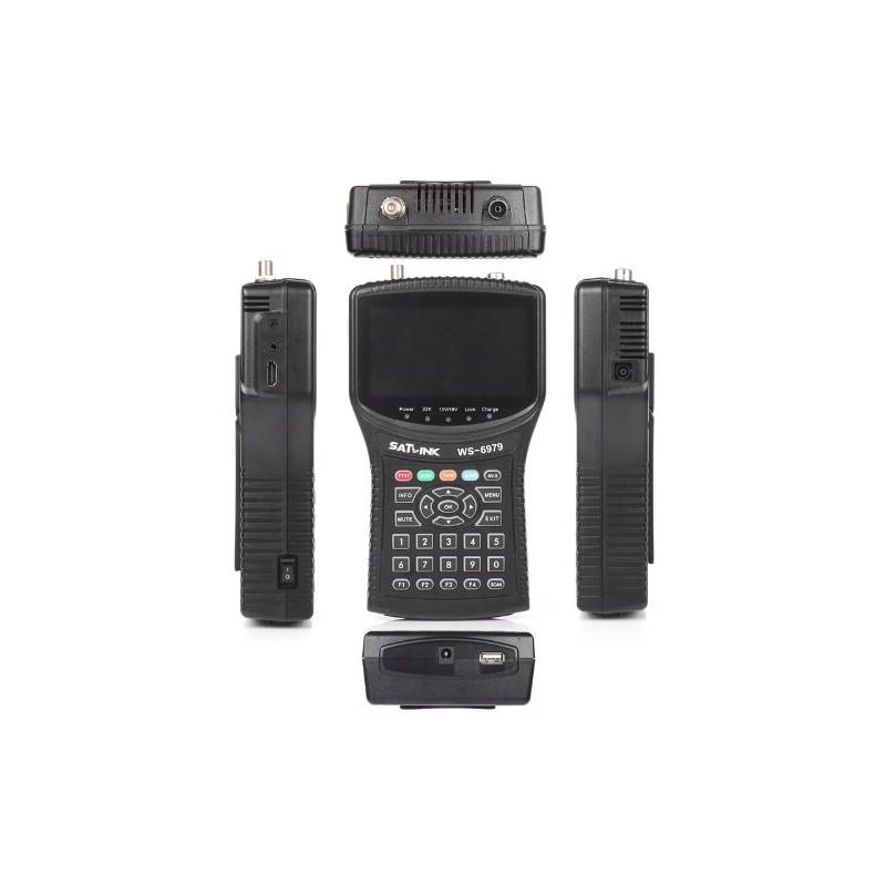 SATLINK WS-6979 HD Pointeur satellite DVB-S/S2- DVB-T/T2  MPEG-2 & MPEG-4 HDMI