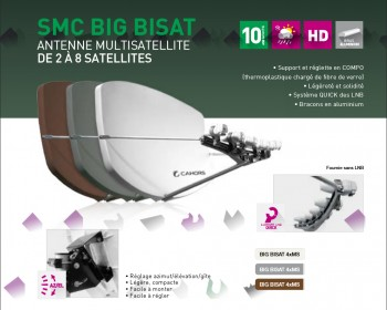 Antenne cahors big bisat Multi satellite